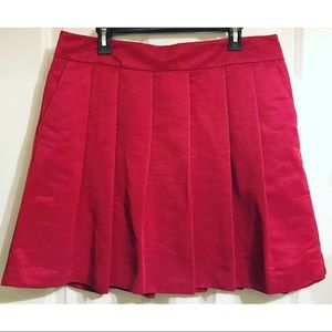 NWT Ann Taylor Factory Pleated Skirt, Red, 14
